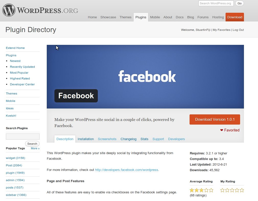 New plugin: official Facebook for WordPress