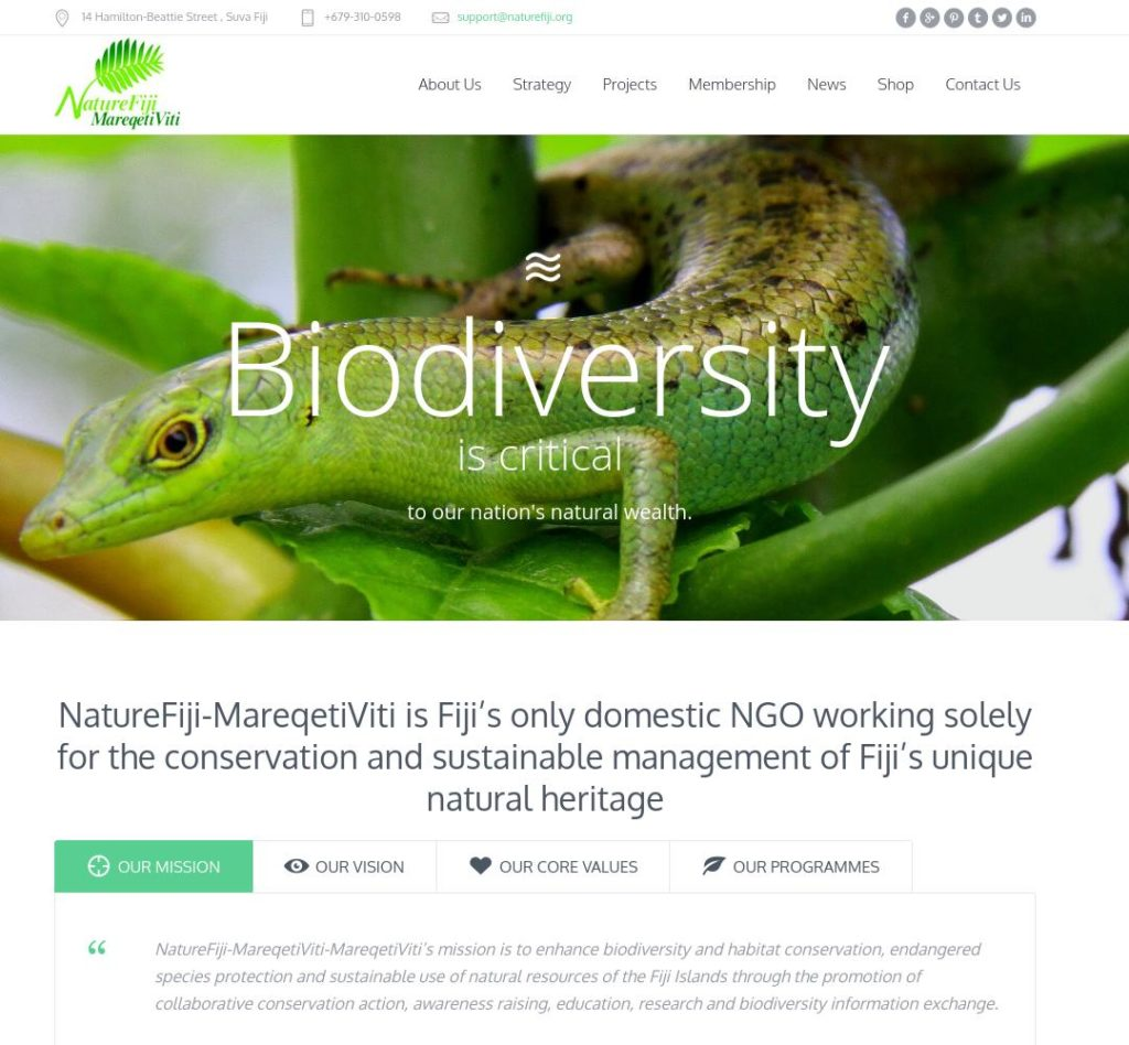 """We have rebuilt the online presence of NatureFiji-MareqetiViti to be primarily a mobile site from the ground up, focusing on improving user experience, reliability and download speed"