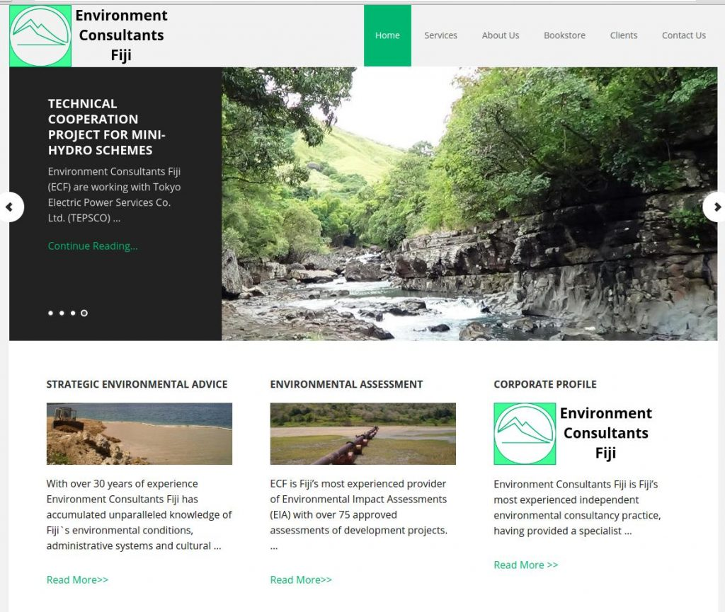 Environment Consultants Fiji is Fiji's most experienced independent environmental consultancy practice, having provided a specialist environmental service to Fiji's public and private sectors since 1985. Services have included a wide range of environmental and resource management studies from faunal surveys to the assessment of mining impacts; from environmental audits to advice on ecotourism development and landowner management projects.