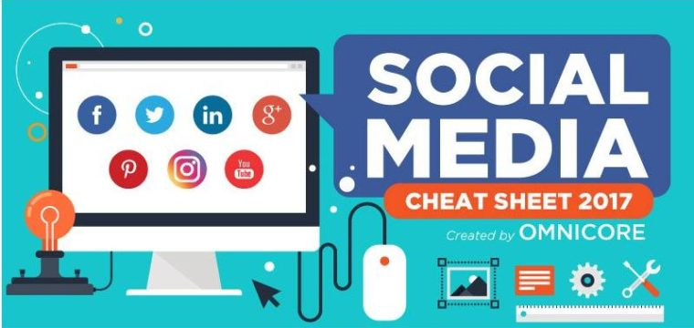 Social Media Image Size Cheat Sheet 2017