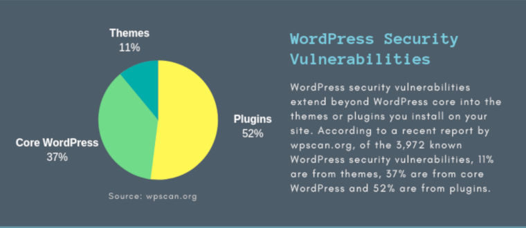 Top 5 WordPress Security Issues in 2018 – infographic
